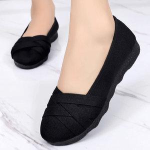 北京老布鞋女鞋妈妈鞋软底女舒适夏季薄款大码老人透气鞋中年女鞋