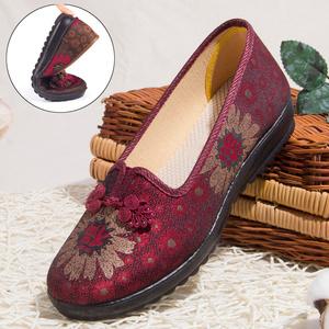 领5元券购买老人鞋老北京旗舰店官方女老年布鞋