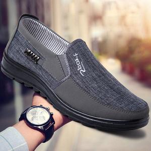 老北京布鞋男旗舰店官方男士爸爸休闲父亲鞋帆布男鞋中年秋季鞋子