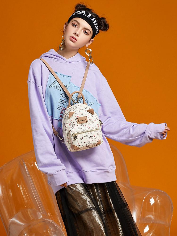 富兰佩斯 迷你双肩包女2018新款韩版碎花小背包可爱少女小包包