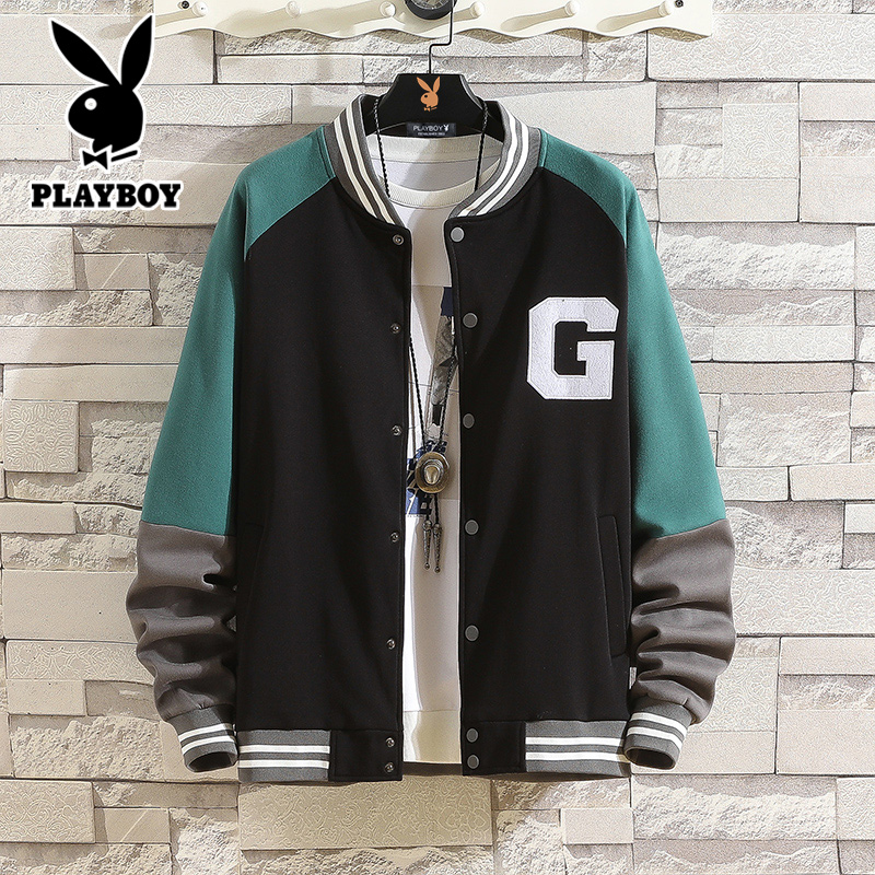 Playboy men's sweater Korean style top clothes cardigan trend student youth jacket men's baseball uniform suit
