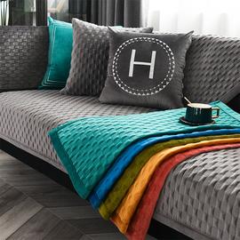 北欧轻奢皮沙发垫套罩巾四季通用简约现代防滑盖布定制定做坐垫子