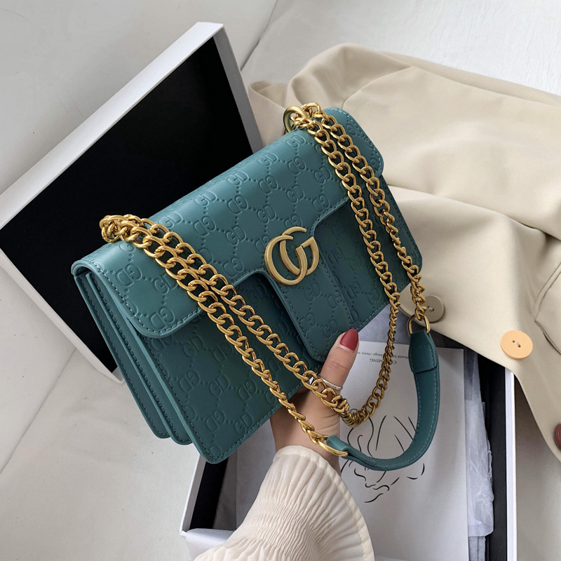 Womens bag trend 2020 new small c k Bag Messenger Bag Fashion Womens bag chain small square bag
