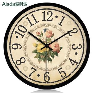 大号复古欧式钟表石英钟创意静音挂钟客厅时尚时钟简约个性挂表包
