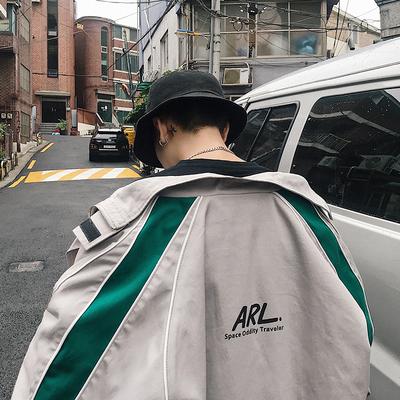 韓版潮流撞色立領夾克外套XW105P105 面料:100%棉 限價128
