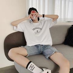2019夏季新款纯色字母印花短袖T恤XT102P40 面料:100%棉 限价55