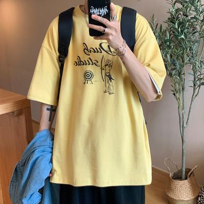 2021夏季新款立体图案印花宽松短袖纯色T恤A201-XT185 P35 限价48