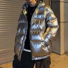 冬季新款男士纯色亮面保暖面包服棉衣A201-XW178P125