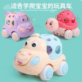 婴儿有声会动惯性小汽车带手摇铃婴幼儿早教益智会跑男孩女孩玩具