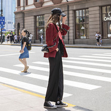 Small fragrant suit jacket women's autumn 2019 new style Korean Plaid leisure loose small suit net red tide Retro