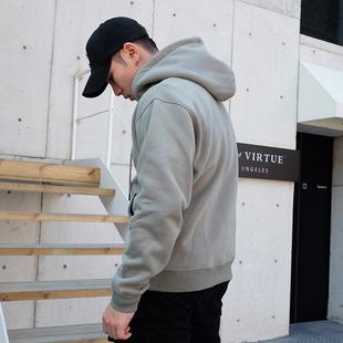 外套加绒加厚 篮球卫衣男士 潮流秋季 冬新款 运动健身休闲宽松套头衫