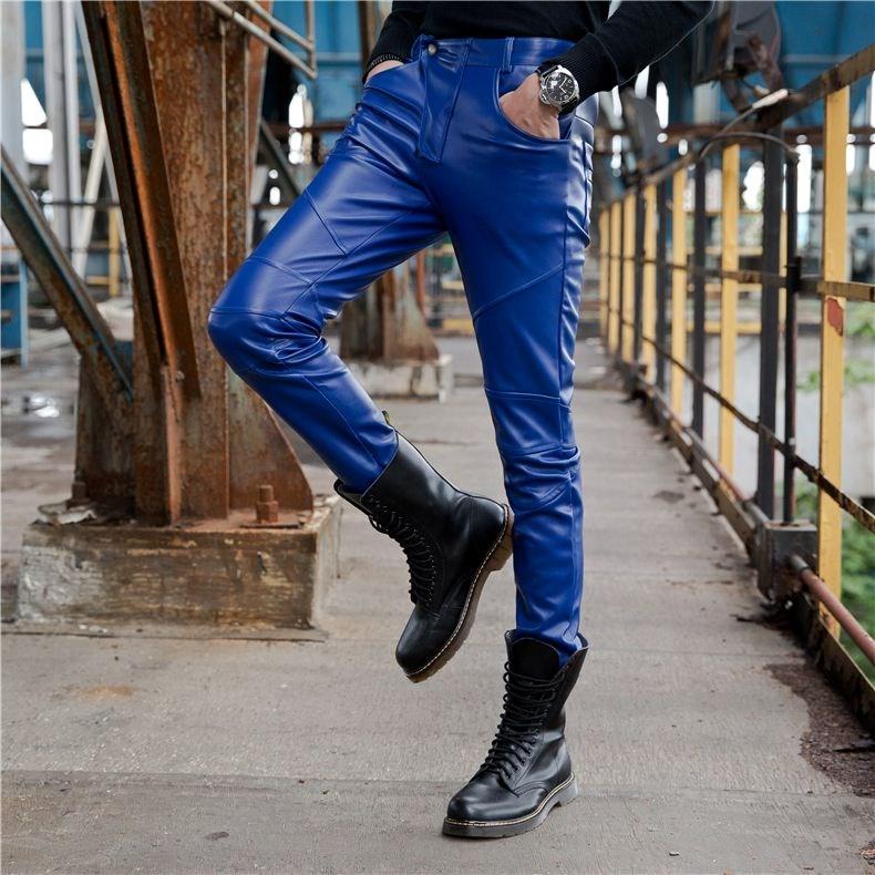 Кожаные брюки Артикул 583569092269