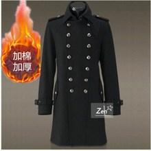 将军大衣冬季羊毛呢子大衣男中长款翻领双排扣英伦妮子大衣加厚