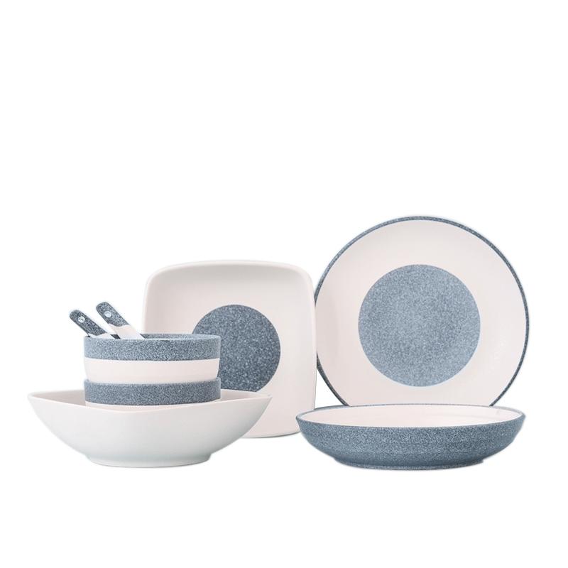 釉下彩陶瓷餐具套裝日式碗碟 瓷碗 韓式家用碗筷盤子 碗盤
