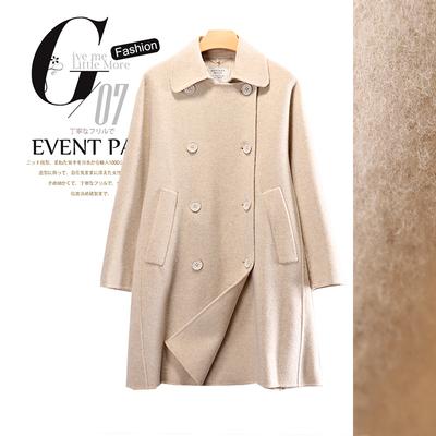 79绵羊毛M系列宽松大码舒适羊毛双面呢外套2019冬装新品女装1150g