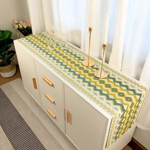 现代简约北欧长方形电视柜桌布餐桌桌旗客厅茶几布餐边柜鞋柜盖布图片
