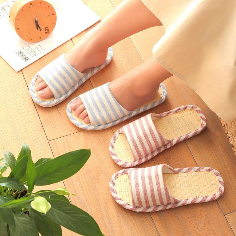 Bamboo summer sandals bamboo woven bamboo bottom rattan grass indoor home floor linen anti-skid summer for men and women