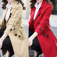 Spring and Autumn 2018 New Women's Wear Korean Edition Slim Windsuit Women's Large Size Long Chic Overcoat