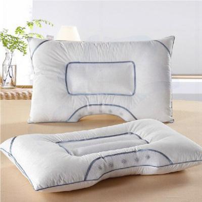 助眠U型护颈枕头枕芯 弧形磁疗枕保健决明子荞麦枕一只装48*74cm