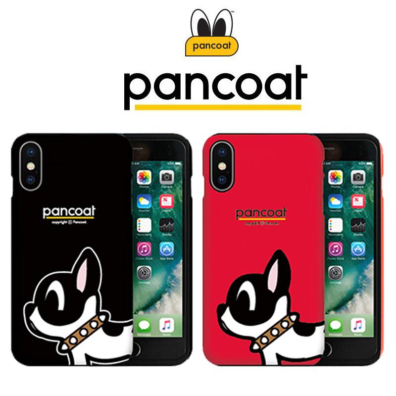 韩国PANCOAT苹果XS MAX手机壳小狗情侣iPhoneXr双层硅胶全包防摔X