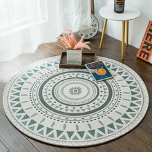 2019 new round carpet study computer chair cushion basket geometric simplicity Nordic ins girls bedside machine wash