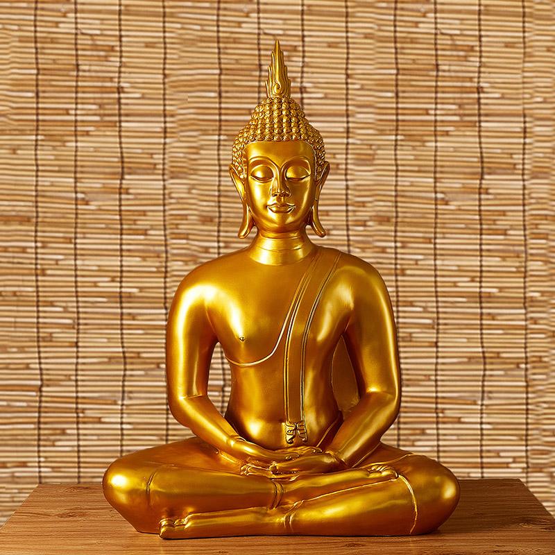 泰式大佛像摆件坐佛 东南亚家居装饰品SPA瑜伽会所禅意摆设工艺品