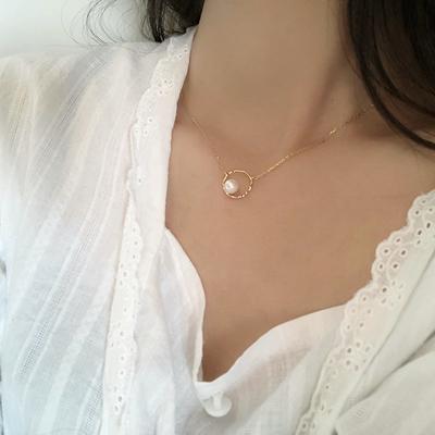 甜酸珍珠项链ins冷淡风锁骨链女潮网红简约气质轻奢小众脖子饰品