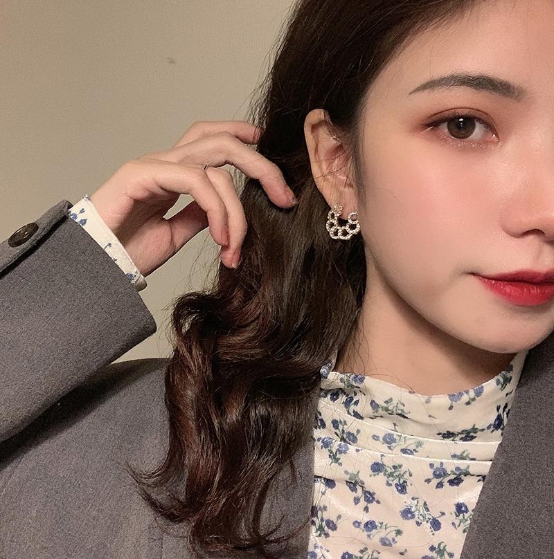 甜酸925银针耳钉女2019流行ins风耳环简约气质个性小巧精致耳饰品