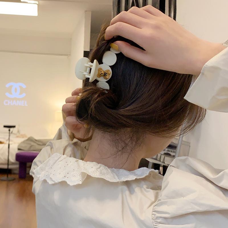 甜酸可爱奶熊抓夹小号发夹发饰发卡顶夹韩版刘海夹少女后脑勺边夹