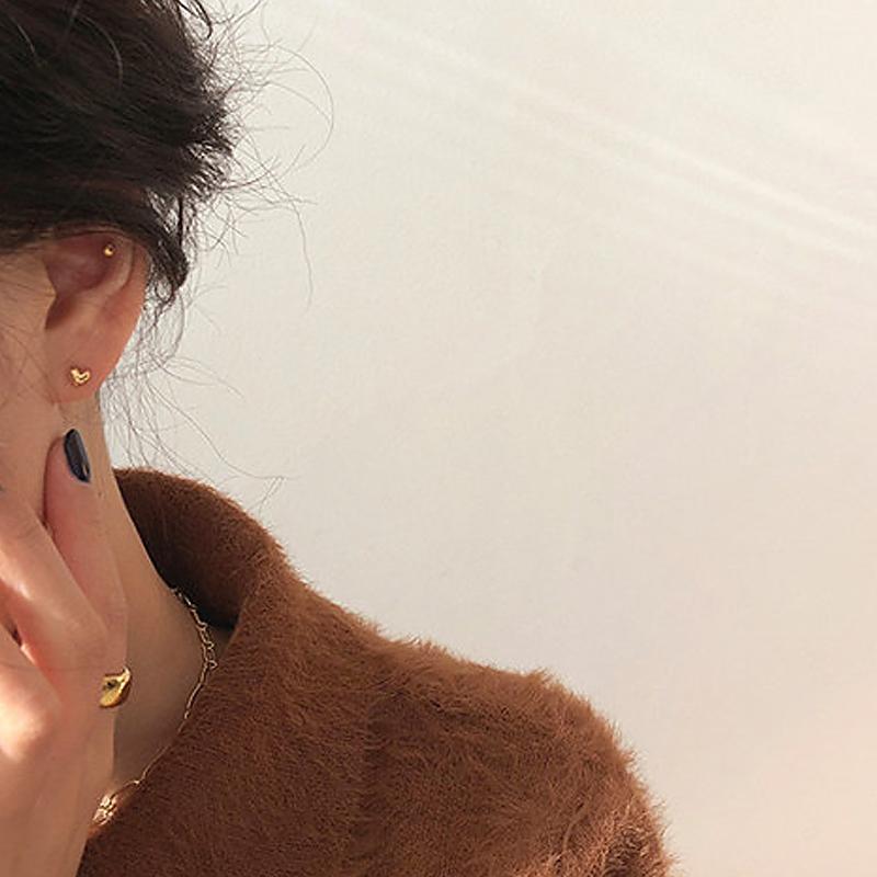 甜酸925银针睡觉不用摘的新款耳钉
