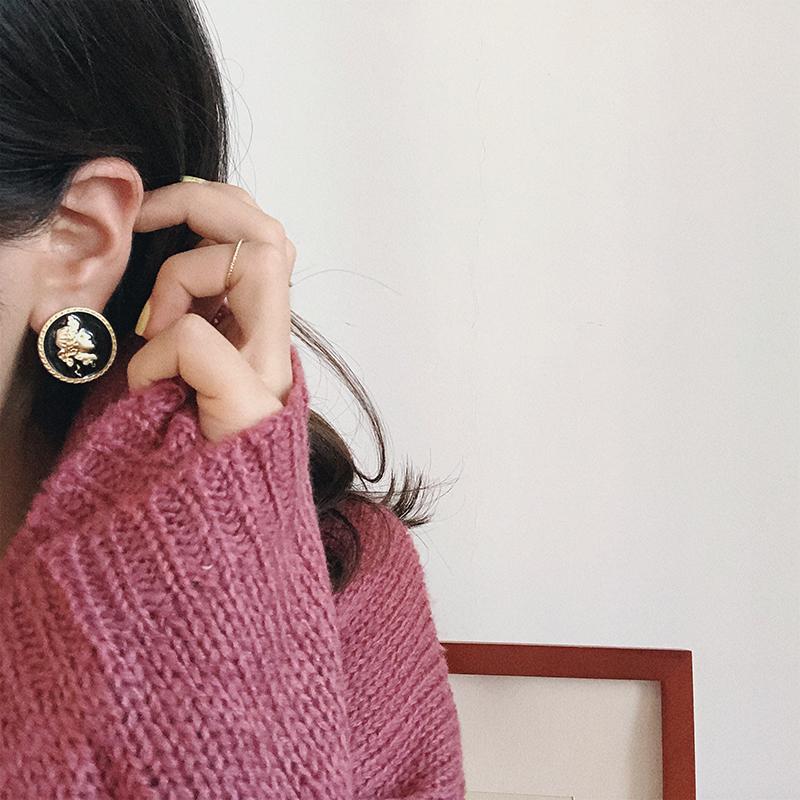 925银针ins抽象人像2019新款耳钉