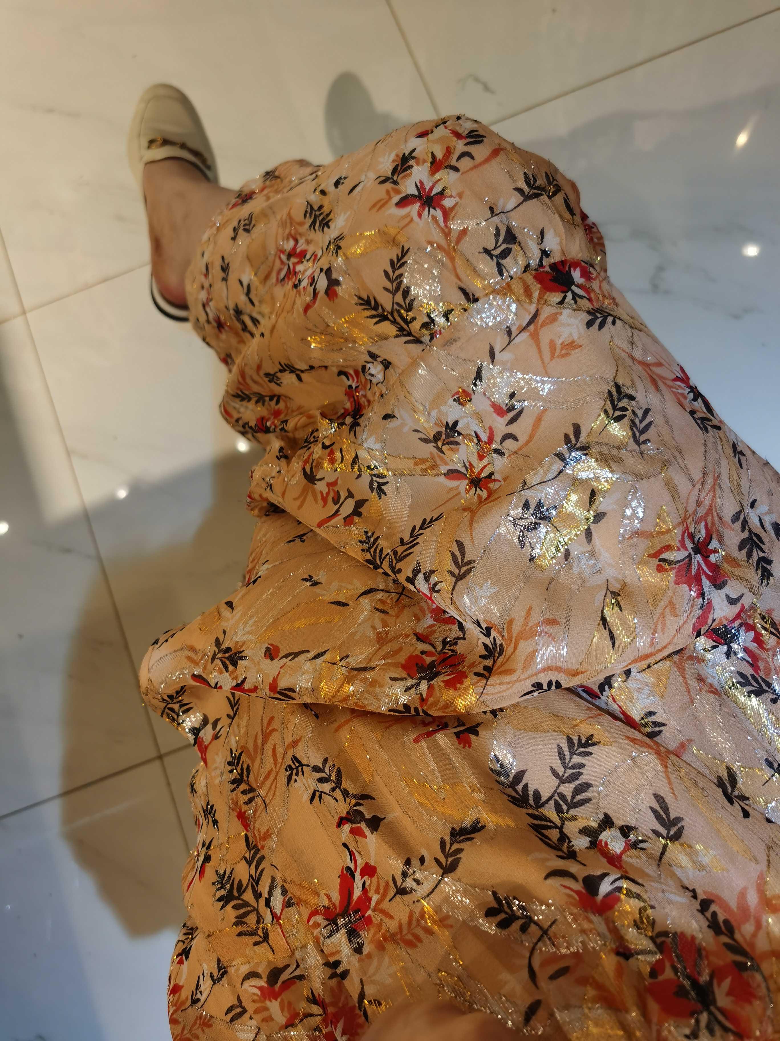 bash2021法系金丝线真丝围裹半裙飘逸长裙 定制产品不退换