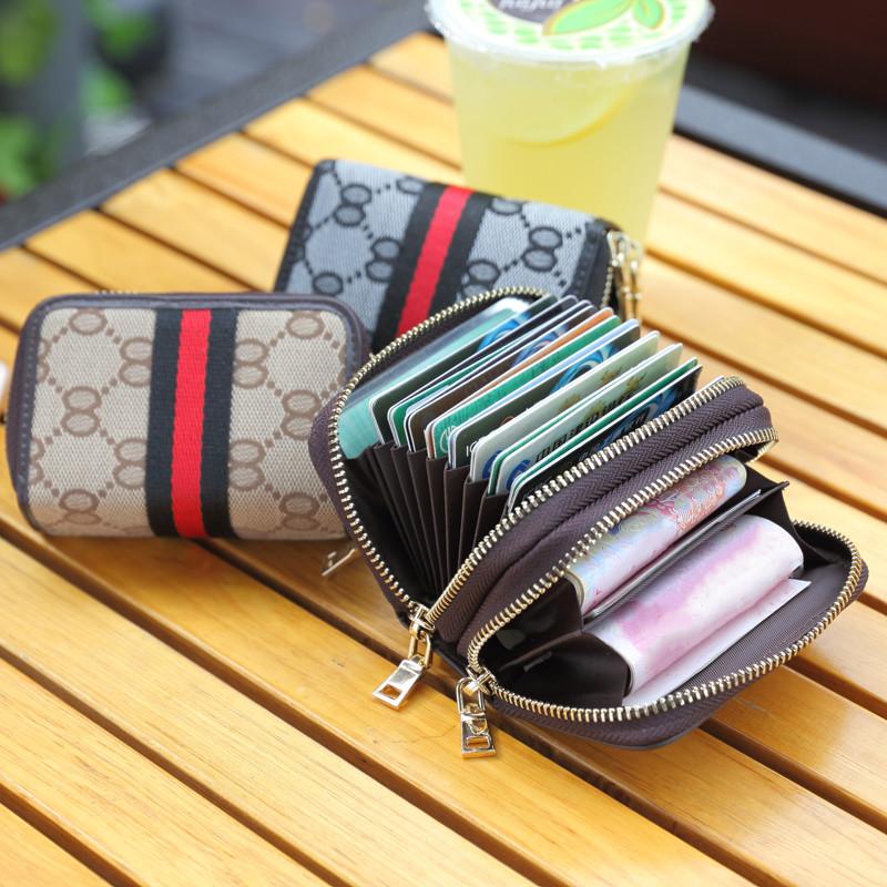 双拉链帆布钱包卡包一体女士小巧多卡位名片包男驾驶证多功能卡套满39.00元可用12.2元优惠券