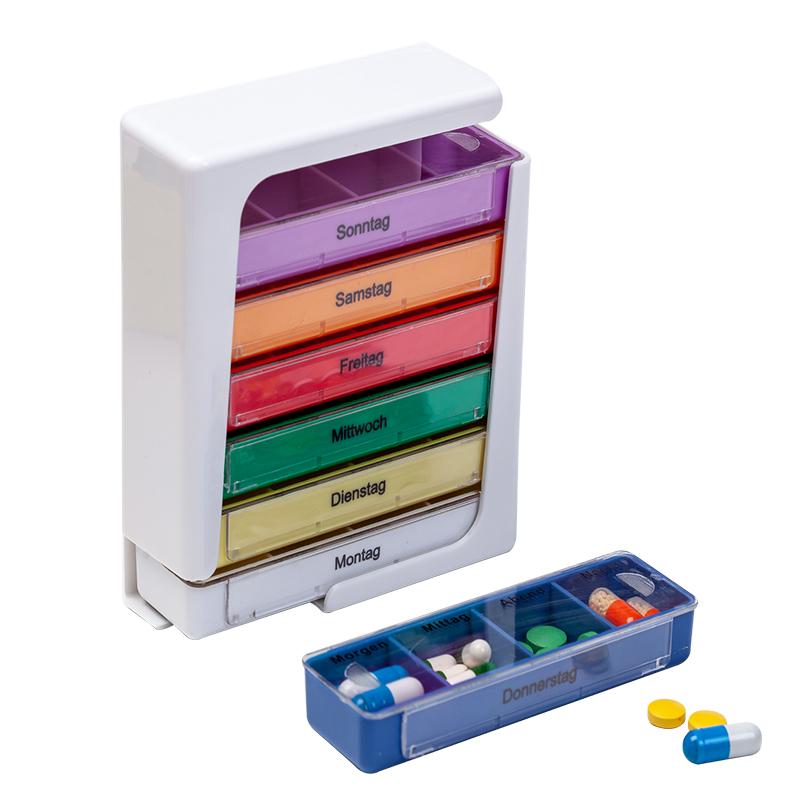 限100000张券大容量小药盒便携一周德国旅行药品药片分装随身迷你防潮收纳薬盒