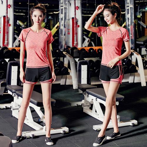 瑜伽服运动套装女夏季网红新款速干衣专业健身房跑步服短裤运动服