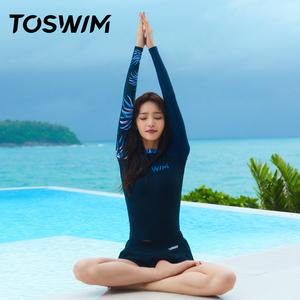 toswim分体女韩国ins温泉显瘦泳衣