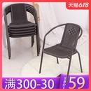 编织藤椅单人靠背椅阳台户外休闲腾椅围椅家用椅子藤编椅单个椅子