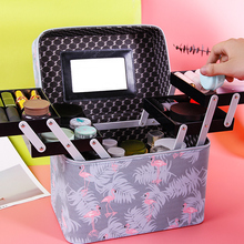 New Portable Cosmetic Bag in 2019 Fashionable Style Women's Hand-held Receiving Box Lolita Washing