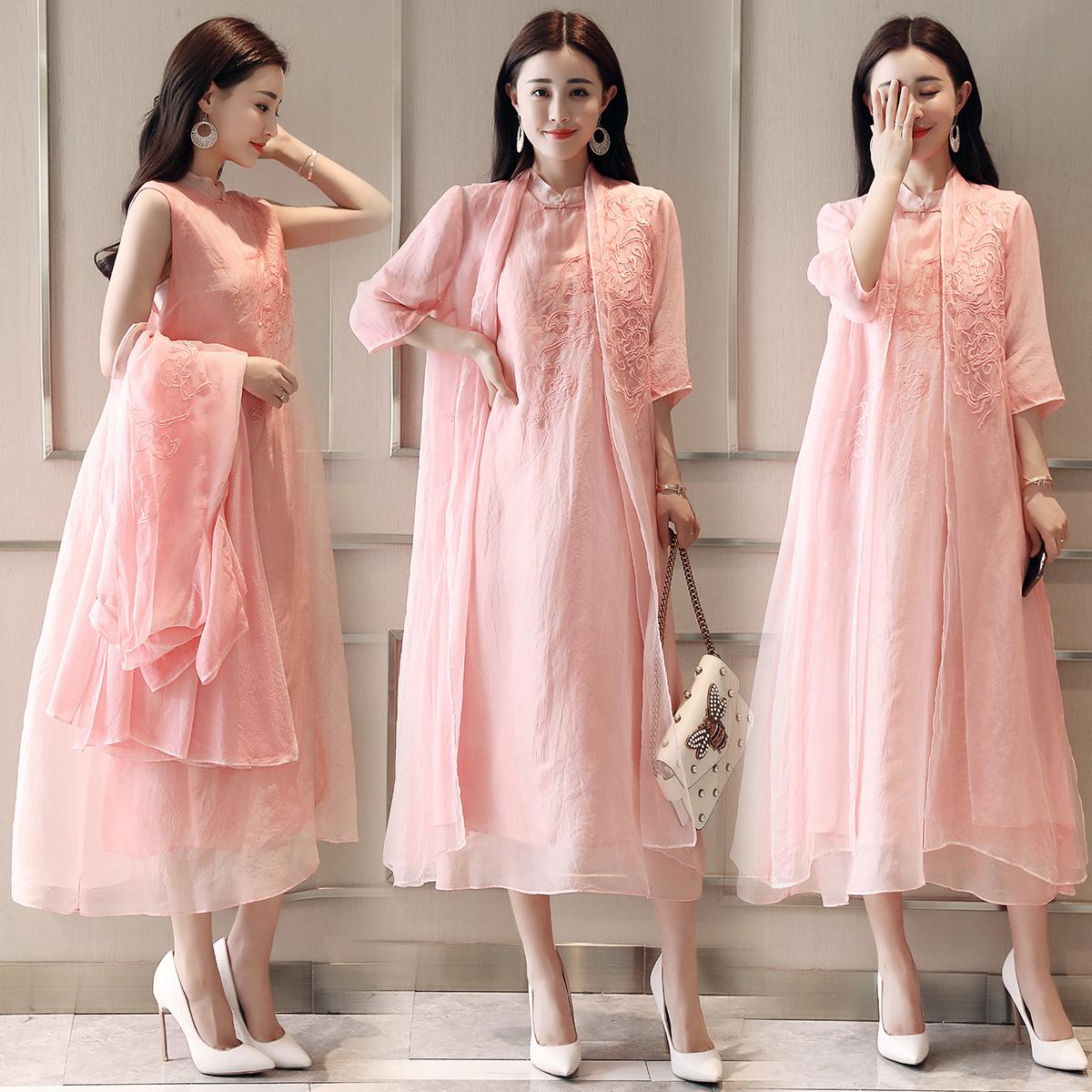 218.00元包邮母亲节两件套30到40岁中年35连衣裙