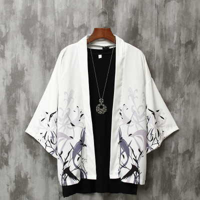 夏季七分袖衬衫男宽松中国风男装防晒外套薄款古风很仙的情侣道袍