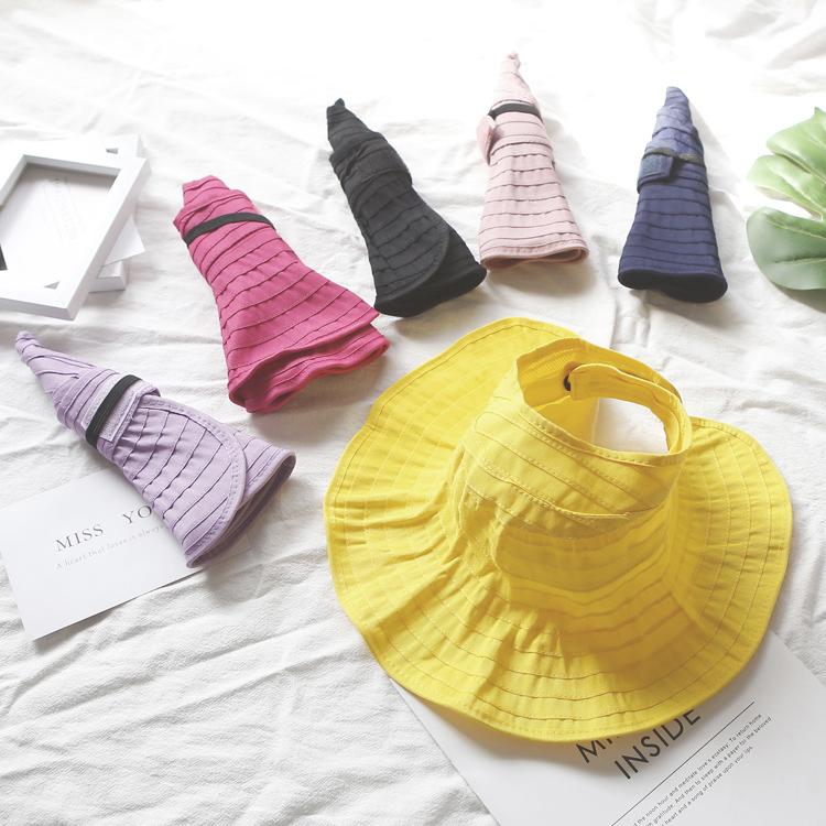 儿童帽子女孩夏季女童太阳帽宝宝防晒帽夏遮阳帽空顶帽大檐亲子帽