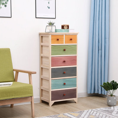 Solid wood bedside table simple modern storage locker between the drawers bedroom small color bedside cabinet economical