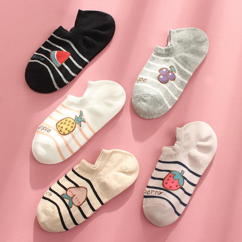 卡通袜子女ins潮夏季薄款短袜可爱日系学生浅口船袜休闲隐形棉袜