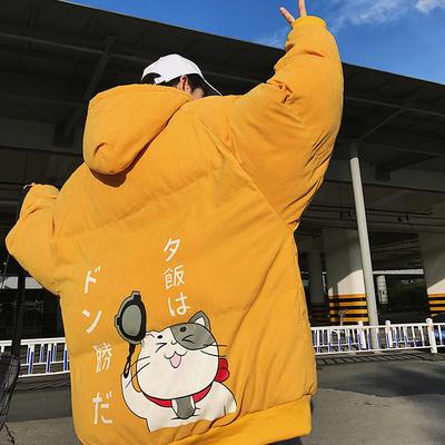 吃鸡必备18秋冬新款挂拍大码面包服休闲棉衣外套MY02 P105