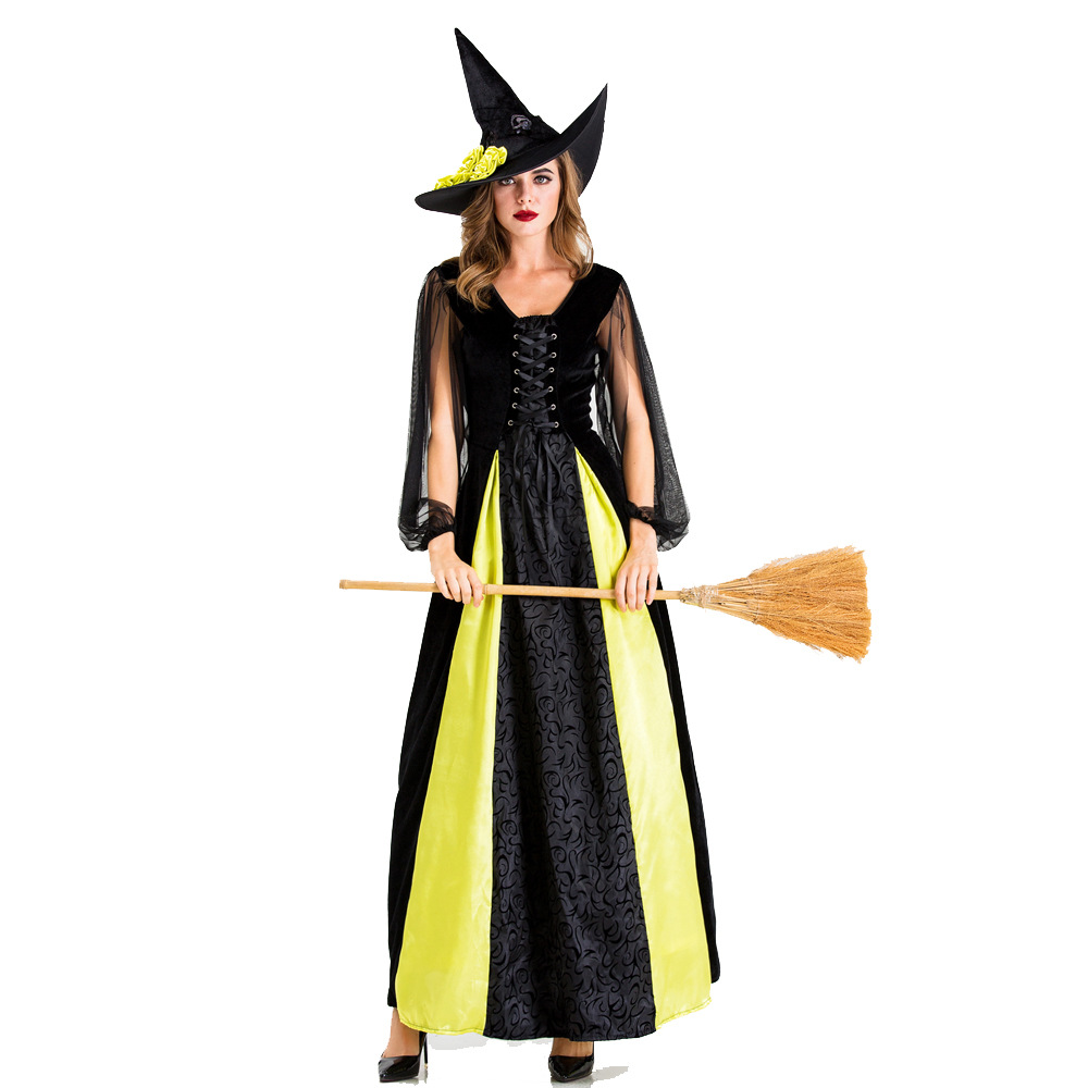 Halloween Witch Costume vampire zombie costume devil queen costume masquerade ball role play costume