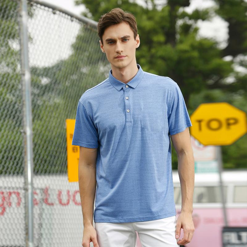 Crocodile T-shirt spring / summer 2020 mens solid color Lapel micro elastic fashion casual youth t-shirt 436442152