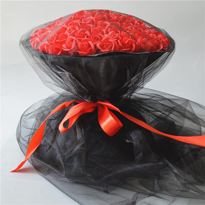 Творческий мультики 99 розы попурри мыло цветок пакет день рождения подарок девочки предлагать женщина друг подруга жена подарок