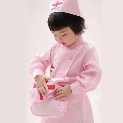 儿童护士小医生幼儿园宝宝女童演出女孩过家家套装白大褂职业服装
