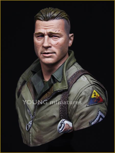 1/10树脂胸像gk白模手办电影人物狂怒模型包邮战争军事题材X07
