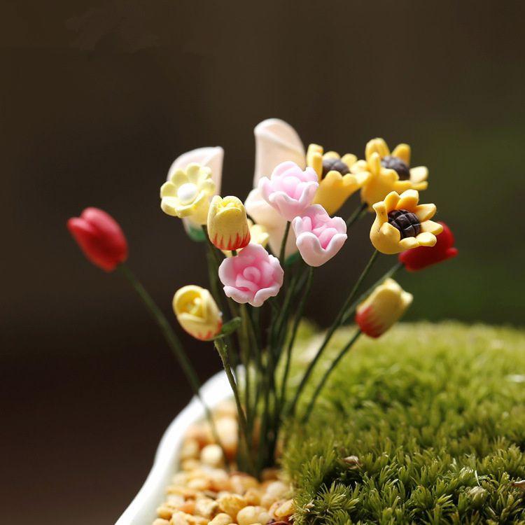 微景観の置物造景ミニシミュレーション花の造景素材造景diy材料多肉植物アクセサリーバッグ